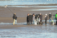 Film Crew on mudflats